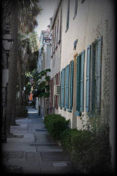 a storied sidewalk in Charleston, SC